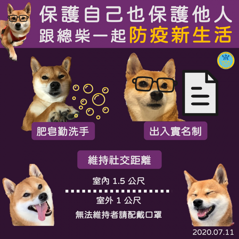 Public health campaign in Taiwan using Shiba Inu dogs to communicate guidelines