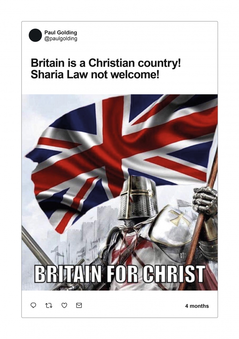 Figure 3.5. GAB Post by Paul Golding on Britain being a Christian Country.jpg