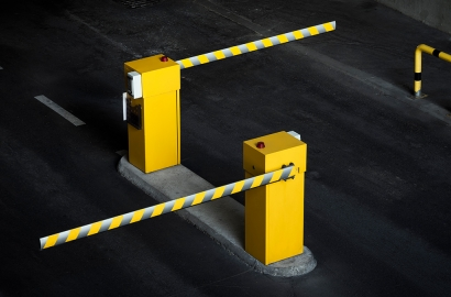 photo illustration of car park barriers