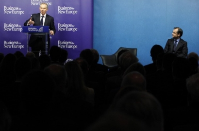 Tony Blair speaks at Business for New Europe event