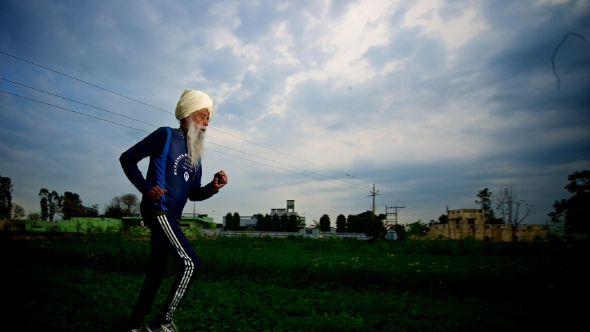 102-year-old marathon runner Fauja Singh