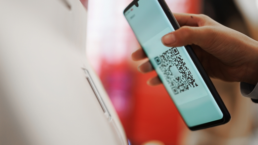 QR code scanned on phone