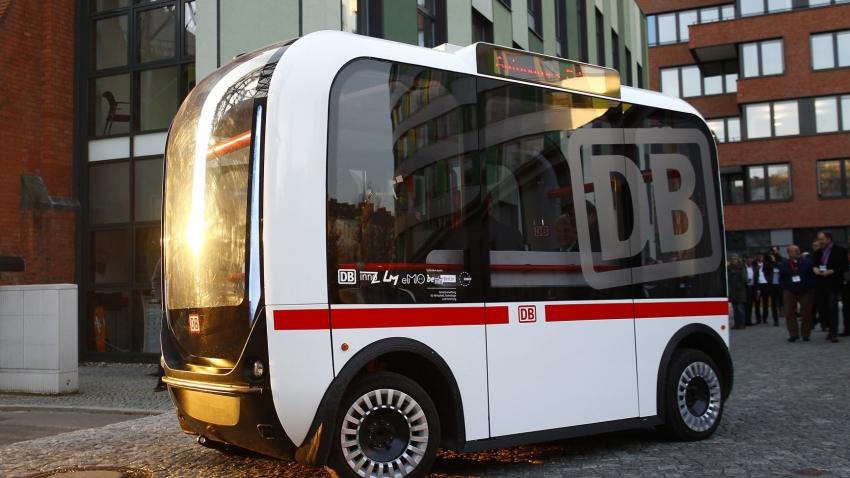 A self-driving bus